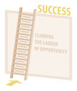 Climbing ladder of opportunity success illustration the with rungs Stock Photos
