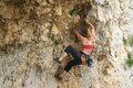 Climbing lady Royalty Free Stock Photography
