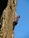 Climbing man Royalty Free Stock Images