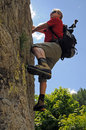 Climbing man Stock Images