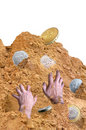 Climbing out from under a mountain of debt Stock Photo