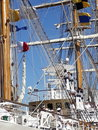 Climbing ropes ship