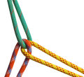 Climbing ropes three knotted together Royalty Free Stock Photography