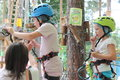 Climbing training children Royalty Free Stock Photo