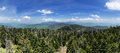 Clingmans dome panorama panoarama looking north from the summit of the highest point in tennessee Stock Image