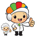 Clinical dietitian mascot the hand best gesture work and job ch character design series Stock Photo