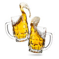 Clink glasses of beers Royalty Free Stock Image
