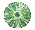 Clinochlore spherulite of on white Royalty Free Stock Images