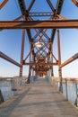 Clinton Presidential Park Bridge in Little Rock,  Arkansas Royalty Free Stock Photo