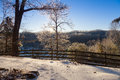 Clinton tennessee morning after an ice storm in Stock Image