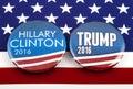 Stock Photography Clinton V Trump US Election