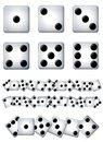 Clip Art Dice Singles and Rows Stock Photography