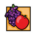 Clip art fresh fruits Royalty Free Stock Photos