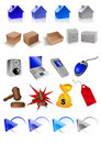 Clip art icons Stock Photo