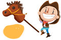 Clip Art Set: Cow Boy, Stuffed Horse Toy etc. Royalty Free Stock Photo