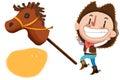 Clip Art Set: Cow Boy, Stuffed Horse Toy etc. Royalty Free Stock Photo