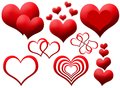 Clipart of red hearts Royalty Free Stock Image