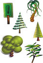 Clipart trees Royalty Free Stock Photo
