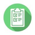 Clipboard checklist flat icon