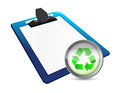 Clipboard and recycle illustration design over a white background Royalty Free Stock Photo