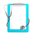 Clipboard with Stethoscope Royalty Free Stock Photo