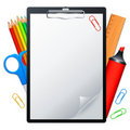 Clipboard and tools. Royalty Free Stock Images
