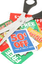 Clipping coupons Royalty Free Stock Photos