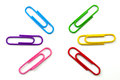 Clips with complementary colors of various in a circle Royalty Free Stock Images