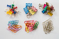 Clips and Pins Royalty Free Stock Photo