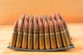 Clips  of 7.62x39 caliber ammunition Royalty Free Stock Photo