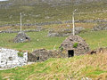 A clochan medieval beehive stone house called on dingle peninsula Royalty Free Stock Photography
