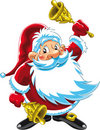 Cloches Claus jouant Santa Image stock
