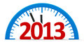Clock 2013, half Royalty Free Stock Photography