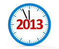 Clock 2013, whole Stock Photography