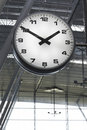 Clock at an airport Royalty Free Stock Photo