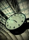 clock in airport Royalty Free Stock Photo