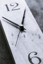 Clock Black and White Royalty Free Stock Photo
