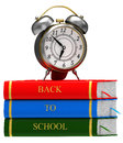 Clock and books Royalty Free Stock Photos