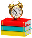 Clock and books Royalty Free Stock Images