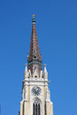 Clock on cathedral, city of Novi Sad, Serbia, Exit festival plac Royalty Free Stock Photo