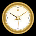 Clock, classic gold rimmed Stock Photos
