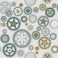 Clock cogwheel pattern Royalty Free Stock Photos
