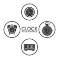 Clock design. time icon. flat illustration, vector graphic