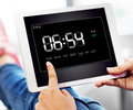 Clock duration time leisure hour concept Royalty Free Stock Photos