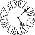 Clock face Royalty Free Stock Photography