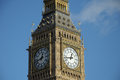 Clock face of big ben westminster london Royalty Free Stock Images