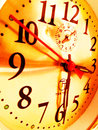 Clock face image with old Royalty Free Stock Images