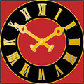 Clock_face_red Royalty Free Stock Photos