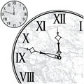 Clock Face with Roman Numerals Stock Photography