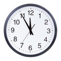 Clock face showing the hands at five minutes to midnight Royalty Free Stock Photos